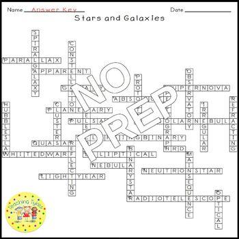 Stars Galaxies Crossword Puzzle