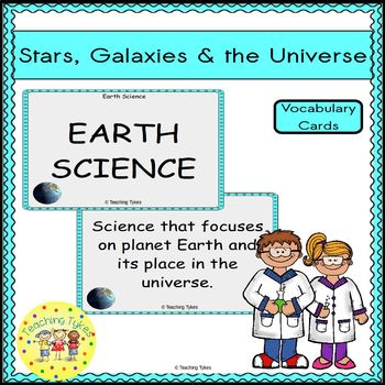 Stars and Galaxies Vocabulary Cards