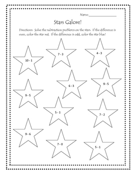Stars Galore!  Patriotic Math Freebie