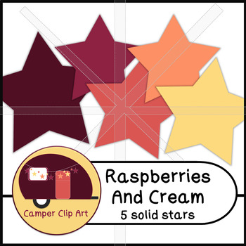 Stars Glitter and Solid Raspberries and Cream {CU - ok!} Pinks
