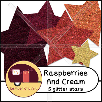 Stars Glitter and Solid Raspberries and Cream {CU - ok!} Pinks