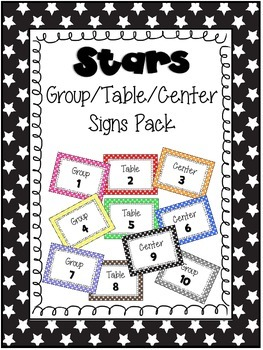 Stars Group/Table/Center Signs Pack