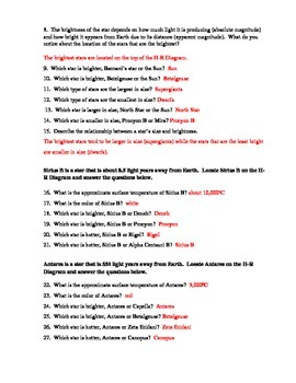Stars And Hr Diagram Worksheet where is the sun on the hr ...