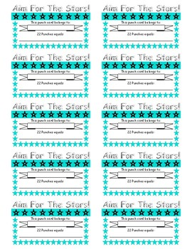 Stars Incentive Punch Card