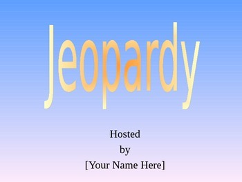 Stars Jeopardy