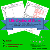 Stars Life Cycles Cornell Notes #14