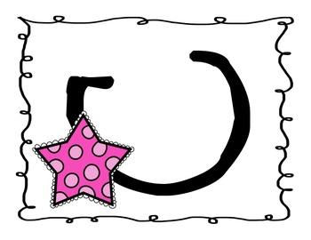 Stars Manuscript Alphabet