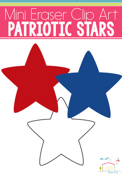Stars Mini Eraser Clip Art: Patriotic