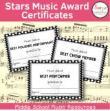 Stars Music Award Certificates