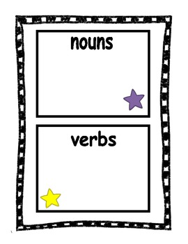 Stars Noun and Verb sort