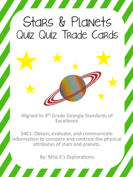 Stars & Planets Quiz Quiz Trade Cards