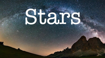 Stars PowerPoint Presentation and Note Guide