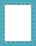 Stars Printable Paper Frames - Color Block Set