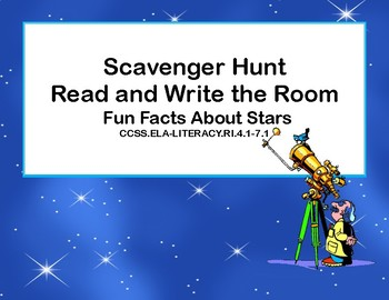 Reading-Stars- Read and Write The Room- Grades 4-7