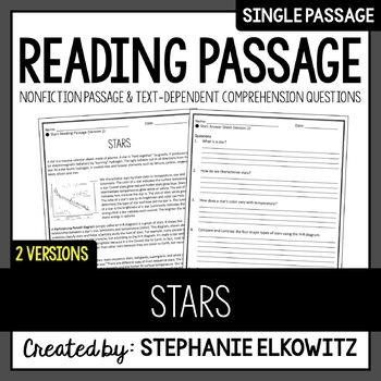 Stars Reading Passage