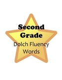 Stars! Second Grade Reading Fluency Dolch Word Wall Words & Flash Cards Set