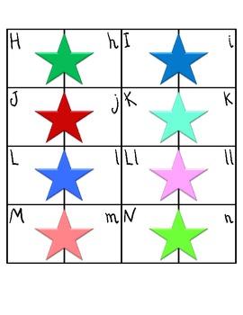 Stars Spanish Letter Match