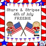 Stars & Stripes 4th of July FREEBIE