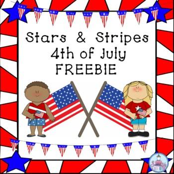 Stars & Stripes 4th of July FREEBIE