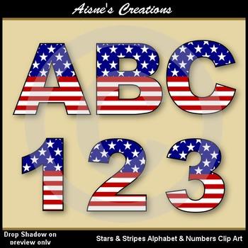 Stars & Stripes Alphabet & Numbers