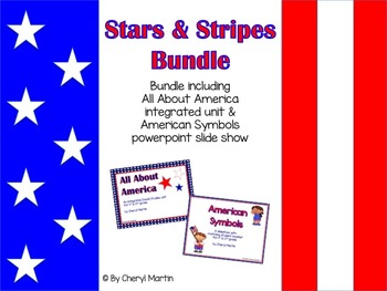 Stars & Stripes Bundle of American Symbols unit & slide show