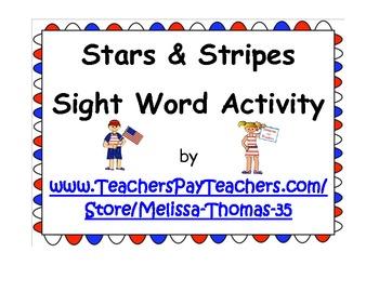 Stars & Stripes Sight Word Activity