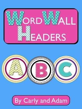 WORD WALL HEADERS - 2 Styles