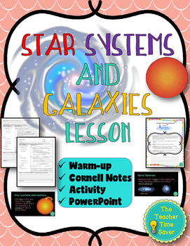 Stars Systems and Galaxies Lesson (Notes, Presentation, and Activity)
