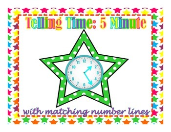 Stars Telling Time to the nearest 5 Minute