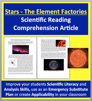 Stars - The Element Factories of the Universe - Science Reading Article