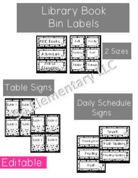Stars Theme Black and White Classroom Decor (Editable)