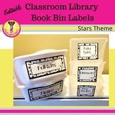 Classroom Library Book Bin Labels Stars Theme (Editable)