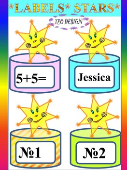 Classroom Decor - Stars - Labels Editable - End of Year