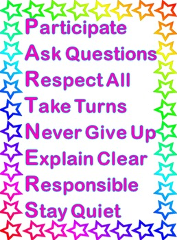 Stars Theme - PARTNERS Rules and Expectations