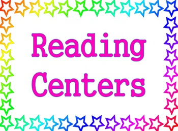 Stars Theme - Reading Centers Poster