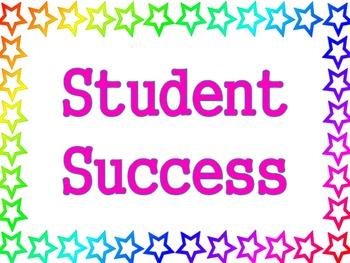 Stars Theme - Student Success Poster