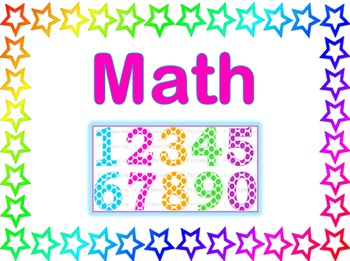 Stars Theme - Subject Area Posters - Reading, Writing, Math, and Science