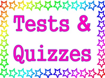 Stars Theme - Tests and Quizzes Poster