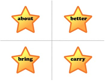 Stars! Third Grade Reading Fluency Dolch Word Wall Words & Flash Cards Set