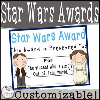 Stars War Superlatives~ EDITABLE!