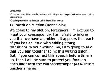 Stars Wars Grammar Missions