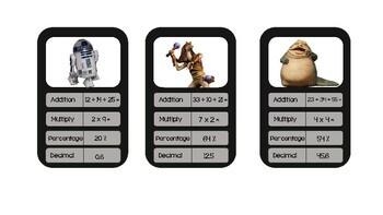 Stars Wars Top Trumps Maths Cards