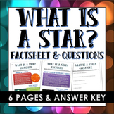 Stars - What is a star?  (Factsheet and Questions with Ans