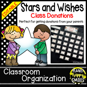 Stars & Wishes Class Donations ~ Black and White Polka Dot