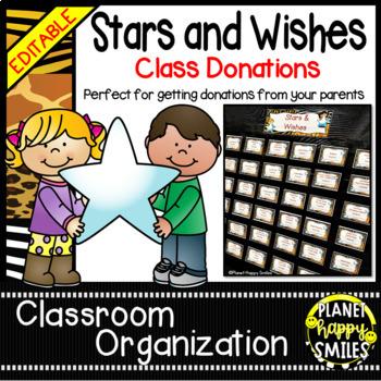 Stars & Wishes Class Donations ~ Jungle/Safari Theme (Editable)