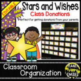 Stars & Wishes Class Donations ~ Super Hero Theme (Editable)