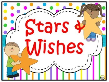 Stars & Wishes Class Donations (editable) - Bright Polka Dots & Stripes