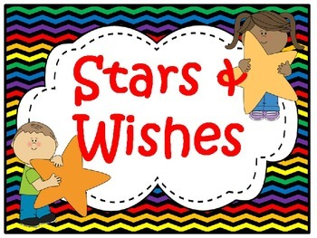 Stars & Wishes Class Donations (editable) - Chevron Rainbow Print w/ black bkgd
