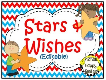 Stars & Wishes Class Donations (editable) - Red, White & B
