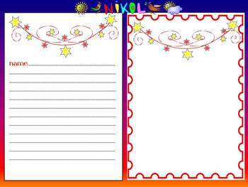 Stars - Writing paper - Clipart - Personal or Commercial Use
